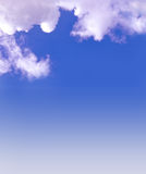 Bue sky empty background. White clouds against a blue sky background royalty free stock photos