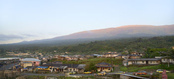 Buea Mount Cameroon, morning Royalty Free Stock Image