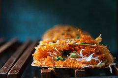 Bueang Khanom, вид тайского sweetmeat Стоковая Фотография