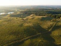 Bueatiful krajobraz w ranku - widok z lotu ptaka zdjęcie stock