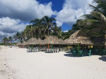 The bueaty of the Gulf of Mexico Huts or Cabanas stock photos
