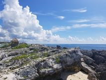 The bueaty of the Gulf of Mexico Rocks royalty free stock photos