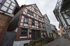 Buedingen,德国- 2016年11月06日:中世纪镇Buedingen的街道视图 图库摄影