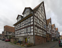 Buedingen, Germany - November 06, 2016: Street view of a medieval town Buedingen Royalty Free Stock Photo
