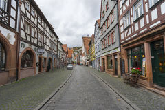 Buedingen, Germany - November 06, 2016: Street view of a medieval town Buedingen Stock Photography