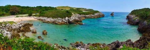 Buelna beach Asturias royalty free stock photo