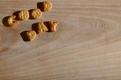 Buen día Letras comestibles Foto de archivo libre de regalías