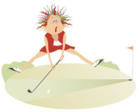 Buen día para jugar a golf Fotografía de archivo libre de regalías