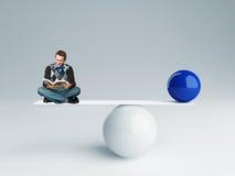Buen equilibrio ilustración del vector