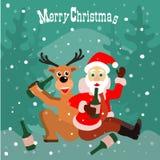 Buen humor de la Navidad Imagenes de archivo