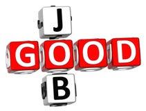 Buen Job Crossword Fotografía de archivo libre de regalías