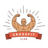 Buen logotipo para CrossFit Fotografía de archivo