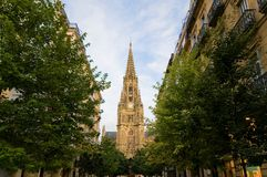Buen Pastor Cathedral in San Sebastian. Spain Royalty Free Stock Photos