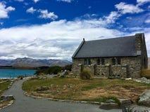 Buen pastor Church en Nueva Zelanda imagen de archivo
