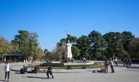 Buen Retiro公园在马德里,西班牙 库存图片