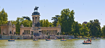 Buen Retiro Park Royalty Free Stock Photos