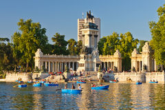 Buen Retiro park in Madrid Royalty Free Stock Image