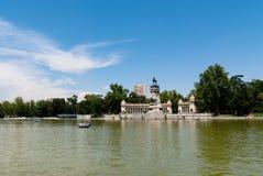Buen Retiro Park, Madrid, Badekurort Stockbild