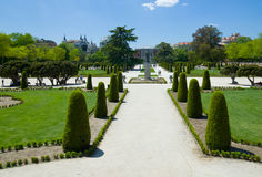 The Buen Retiro Park in Madrid Stock Photo