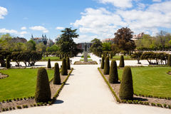 The Buen Retiro Park in Madrid Royalty Free Stock Photo