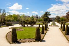 Buen Retiro Park in Madrid Stock Photo