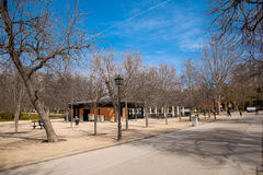 The Buen Retiro Park in Madrid Spain. El Retiro is the one of the largest parks of the city Madrid. This is the green heart of the Spanish capital Stock Photography