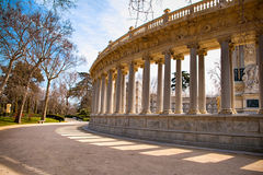 The Buen Retiro Park in Madrid Spain. El Retiro is the one of the largest parks of the city Madrid. This is the green heart of the Spanish capital Royalty Free Stock Images