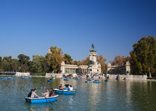 The Buen Retiro Park in Madrid, Spain Stock Photography