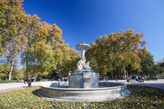 The Buen Retiro Park in Madrid, Spain Royalty Free Stock Image