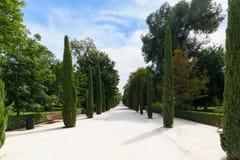 The Buen Retiro Park - Madrid - Spain. A view of the Buen Retiro Park - Madrid - Spain Royalty Free Stock Images