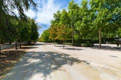 The Buen Retiro Park - Madrid - Spain. A view of the Buen Retiro Park - Madrid - Spain Stock Photos