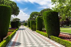 The Buen Retiro Park - Madrid - Spain. A view of the Buen Retiro Park - Madrid - Spain Royalty Free Stock Photos