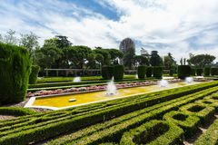 The Buen Retiro Park - Madrid - Spain. A view of the Buen Retiro Park - Madrid - Spain Royalty Free Stock Photography