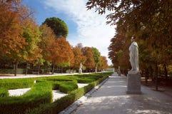 Buen Retiro Park, Paseo de la Argentina Stock Image