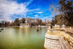 Buen Retiro park w Madryt Hiszpania Obraz Stock