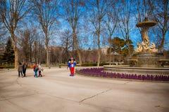 Buen Retiro park w Madryt Hiszpania Zdjęcia Royalty Free