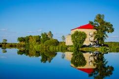 buen retiro sevilla Испания парка madrid озера дома de glorieta Стоковые Изображения
