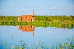 buen retiro sevilla Испания парка madrid озера дома de glorieta Стоковое Фото