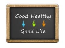 Buen sano - buena vida ilustración del vector