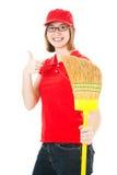 Buena actitud del trabajador adolescente Imagen de archivo libre de regalías
