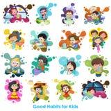 Buena carta de los hábitos stock de ilustración