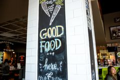 Buena comida Pasillo fotos de archivo libres de regalías