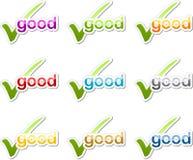 Buena etiqueta engomada de la motivación de la marca de cotejo Imagen de archivo libre de regalías
