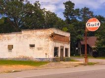 Buena gasolinera del golfo Foto de archivo libre de regalías