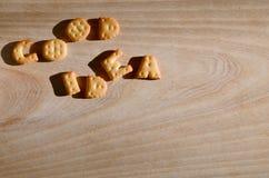 Buena idea Letras comestibles Foto de archivo libre de regalías