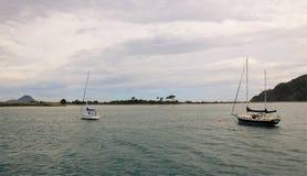 Buena mañana en la bahía de Whakatane, Nueva Zelandia Fotografía de archivo libre de regalías