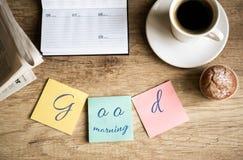 Buena mañana en trabajo Fotos de archivo libres de regalías