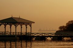 Buena mañana Sri Chang Island Fotos de archivo