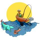 Buena pesca ilustración del vector