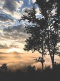 Buena salida del sol de la buena visión imagen de archivo